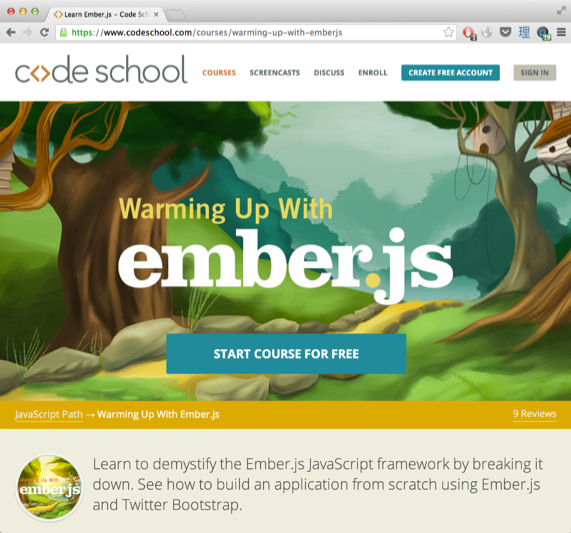 Warming Up With Ember.js - Codeschool